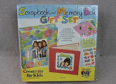 NEW Creativity for Kids Scrapbook and Memory Box Gift Kit Set SEALED