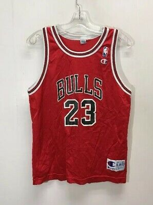 c27604a92e2 Vintage Chicago Bulls #23 Michael Jordan NBA Champion Jersey Youth Size XL  18-20
