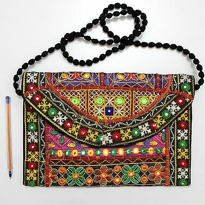 Vintage Tribal Banjara Indian Handmade Ethnic Women Purse Boho Fancy Clutch Bag