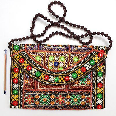 Vintage Tribal Banjara Indian Handmade Ethnic Women Purse Multicolor Clutch Bag
