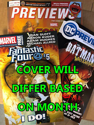 Diamond Comics Previews Catalog W/ Marvel & Dc Catalogs Too - Most Current Issue