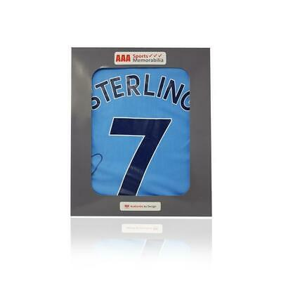 Raheem Sterling Hand Signed Manchester City 2018-19 #7 Shirt in AAA Gift Box