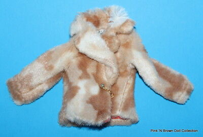 Barbie Doll 1969 Clothes Best Buy Fashions/Collectibles Fab Fur #1493..COAT ONLY