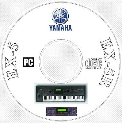 Yamaha EX-5 Sound Library Patches Manual MIDI Software & Editors CD  -  EX5 R 5R