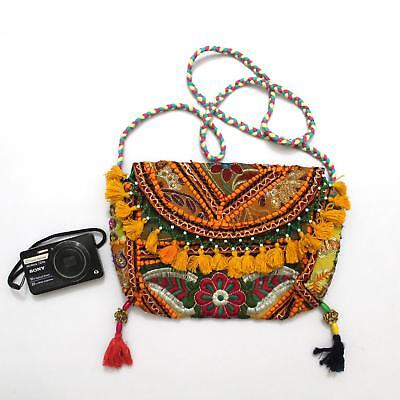 Vintage Tribal Banjara Indian Handmade Ethnic Women Boho Embroidered Clutch Bag