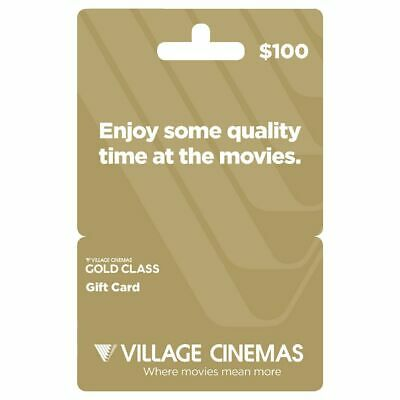 Village Cinema Gift Card $100