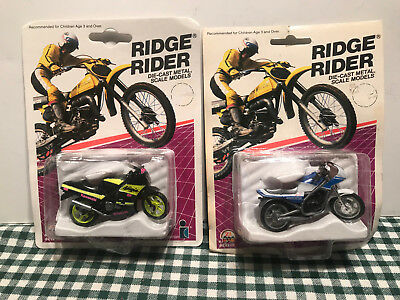 PAIR of 1986 Intex Die Cast Metal Ridge Rider Collectibles new old stock
