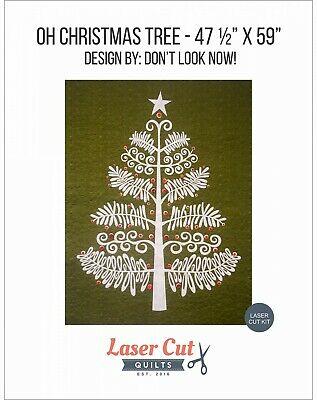 OH CHRISTMAS TREE LASER CUT APPLIQUE KIT & PATTERN, from Laser Cut Quilts NEW