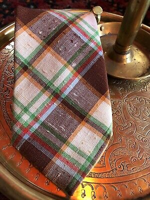 e7f61456589a Vintage Pedigree By Michael 100% Polyester Plaid Ivy League Wide Tie Necktie  USA