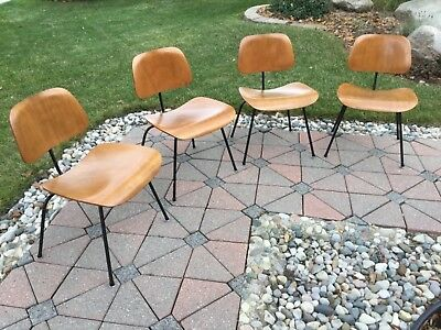 Eames Herman Miller 1950s DCM Dining Chairs ( 4 )