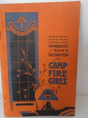 Antique 1931 Camp Fire Girls Grand Rapids, Mi Furniture Home Exposition Handbook