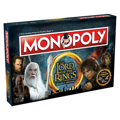 Monopoly The Lord of the Rings Trilogy Board Game NEW