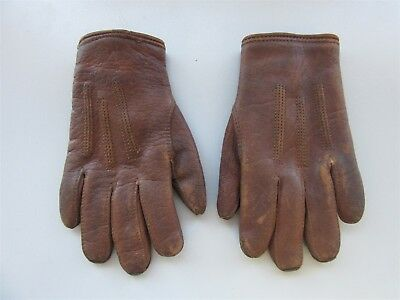 Pair of Children's Vintage Leather Gloves - English Make