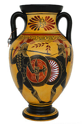 Trojan War battle Amphora Vase Pottery - Ancient Greek Mythology - Homer