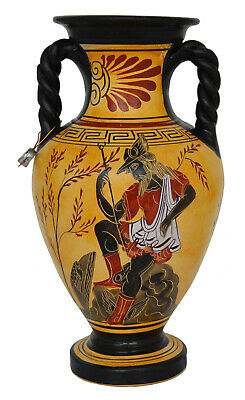 Goddess Athena and Poseidon - God Hermes the messenger of Gods Amphora Vase