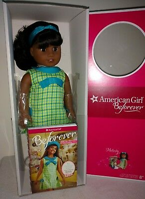 "AMERICAN GIRL BeForever Doll- Melody Ellison-18"" size, Brand New, NRFB, w/book"