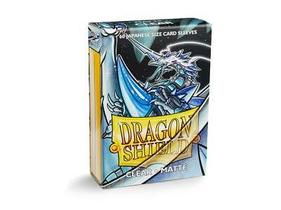 Dragon Shield Japanese Mat Clear 60 Protective Sleeves Card Sleeves 59x86