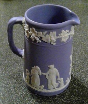 "Wedgwood Blue Jasperware 4.5"" Creamer Pitcher #36 Made in England"