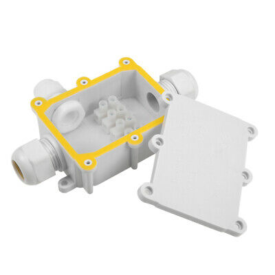 Waterproof IP68 Electrical 3-Way Junction Box 131x89x37mm with Terminal Strip