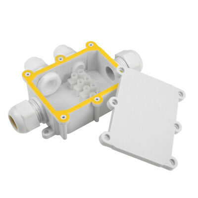 Waterproof IP68 4Way PG9 Electrical Junction Box 128x89x37mm with Terminal Strip