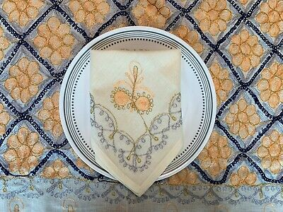 Colorful Aghabani EMBROIDERED Table Cloth/Table Cover 78 X 59 Inches