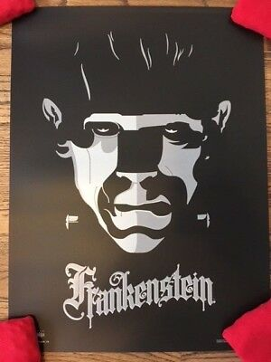 Original Frankenstein Advance Variant Universal Monsters Tom Whalen Mondo Poster