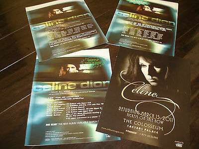 "CELINE DION 4 ads for hits ""I DROVE ALL NIGHT"" and The Colosseum Caesars Palace"