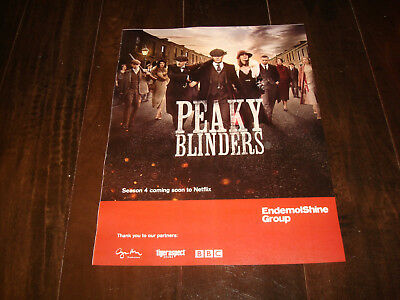 PEAKY BLINDERS 2017 Netflix ad Cillian Murphy as Tommy Shelby, Sam Neill