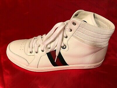 85c3daa28 Gucci Mens White Leather GG Coda Guccissima Web High Top Sneakers G10 Size  13.5