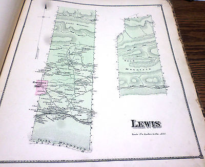 Original 1868 Map Town Of Lewis Pa Union Co Residents Listed