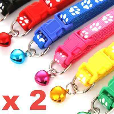 Dog Cat Collar Pet Puppy Kitten Adjustable Neck Strap + Bling Bell