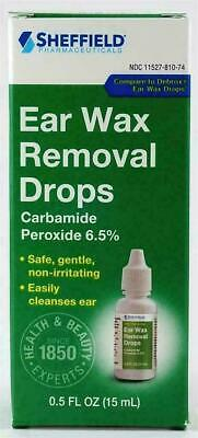 Ear Wax Removal Drops Safe Gentle Non-irritating Easily Cleanse Ear  0.5 oz