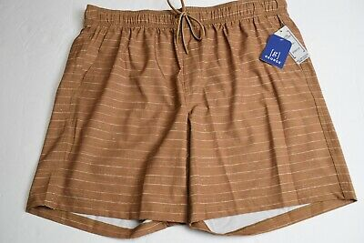 025131d9dab99 GEORGE Men's Texture Pull On Hybrid Swim Shorts XL 40-42 Trunks Stripe Brown