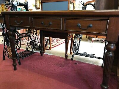 Edwardian style 3 drawer writing desk with insert