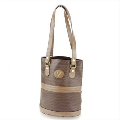 3289a71d74 Mario Valentino Tote bag Beige Brown PVC Leather Woman Authentic Used Q515