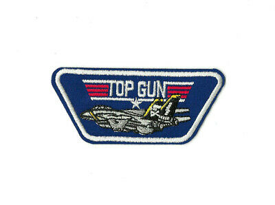 TOP GUN FIGHTER Iron on / Sew on Patch Embroidered Badge Motif Movie PT490