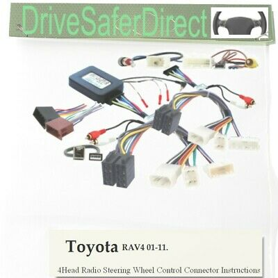 SWC-7658-02J Stalk Control aux retention,ISO-JOIN for Xtrons/Toyota RAV4 01-11