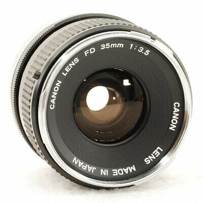 Canon FD 35mm F3.5 w/Caps, Filter [Exc++] from Japan #03L1065
