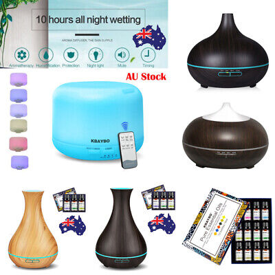 LED Aromatherapy Diffuser Air Oil Purifier Humidifier Aroma Ultrasonic Essential