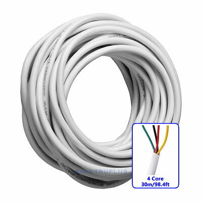 30m/98.4ft 4 Core 0.5mm²  Flexible Copper Cable for Video Door Entry Intercom