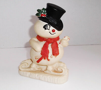 Vintage 1977 SNOWMAN COIN BANK Plastic Chistmas Club A. Corp Easton PA