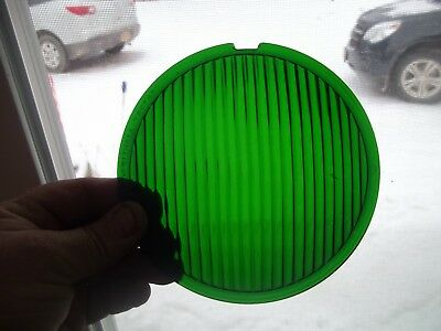 "Vintage stage/Traffic  Century 5 5/8""  Green signal light lens 55 Degrees"