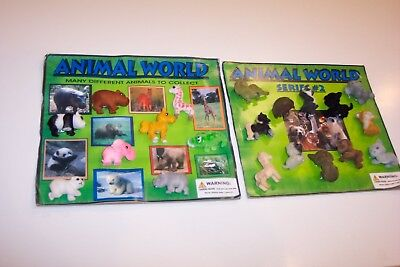 Gumball Machine Vending Header Toy Prize Charm, Two Animal World Display Cards 1
