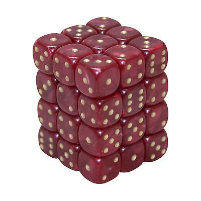 12MM d6 PEARL DICE set - RED (x36)