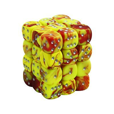 12MM d6 TOXIC DICE set -  Yellow/Red (x36)