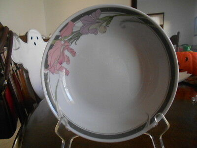 "Helena Soup Cereal Salad Bowl (s) 7 3/4"" Gibson Fine China White Grey Pink Green"
