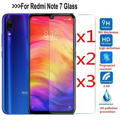 9H Tempered Glass Screen Protector Film Protection For Xiaomi Redmi Note 7 DE jc
