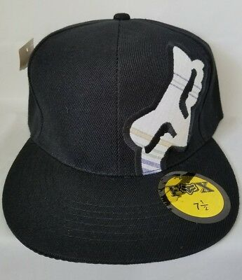 e41ee9bc2d4 Fox Plaid and Black Hat Baseball cap embroidered Fitted Size 6 3 4
