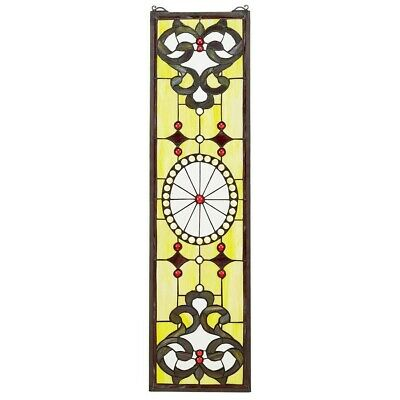 The Belvedere Tiffany-Style Design Toscano Hand Crafted Stained Glass Window