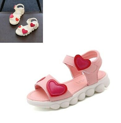 Kids Sandals Fashion For Girls PU Soft Leather Children Summer Shoes Flat Heels